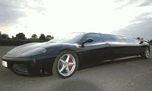 Ferrari F1 360 limousine hire london