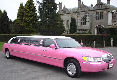 Pink limo hire london