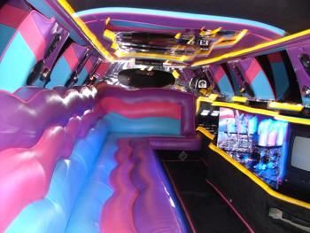 Pink limousine hire london
